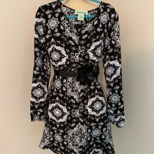 Mia Chica Nordstrom's Dress, Black/gray L (12)
